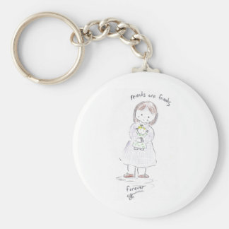 Forever Friends Basic Round Button Key Ring