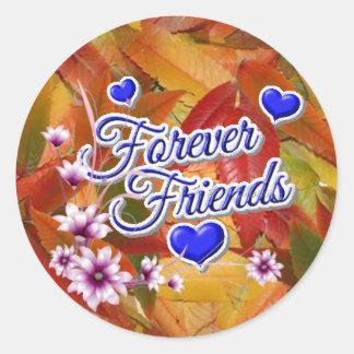 forever friends designs round sticker