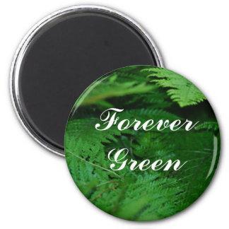Forever Green 6 Cm Round Magnet