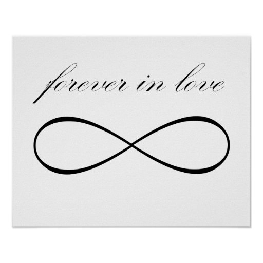 Forever in love infinity symbol print poster