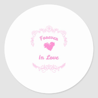 Forever In Love Wedding Favors Classic Round Sticker