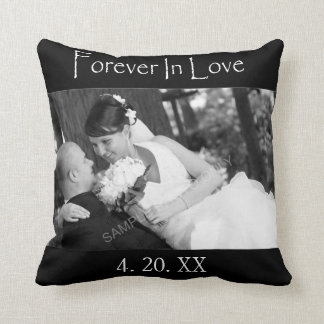 Forever In Love Wedding Photo Cushion