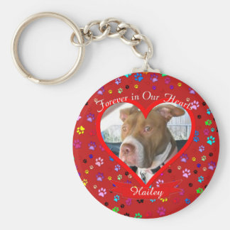 Forever In Our Hearts Pet Memorial Basic Round Button Key Ring