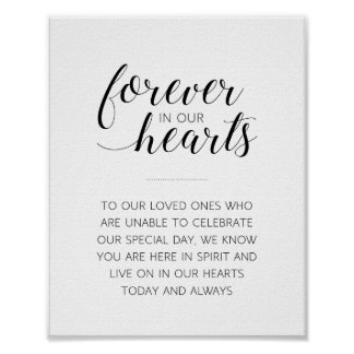 Forever In Our Hearts Wedding Sign - Alejandra Poster