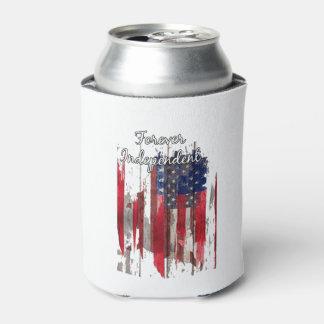 Forever Independent July 4th Beverage Can Cooler