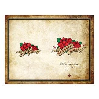 Forever Joined Rose Urban Tattoo Wedding Program Flyer