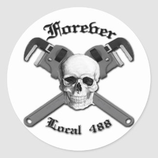 Forever Local 488 Classic Round Sticker