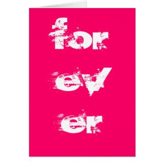 Forever - love card