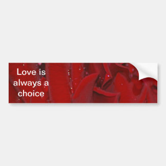Forever Love Rose Bumper Stickers