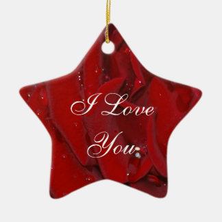 Forever Love Rose Christmas Ornaments