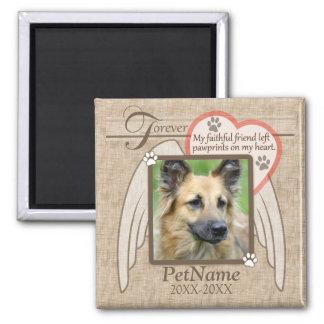 Forever Loved Angel Wings Pet Sympathy Custom Magnet