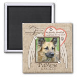 Forever Loved Angel Wings Pet Sympathy Custom Square Magnet
