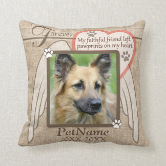 Forever Loved Angel Wings Pet Sympathy Custom Throw Cushion