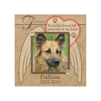 Forever Loved Angel Wings Pet Sympathy Custom Wood Canvases