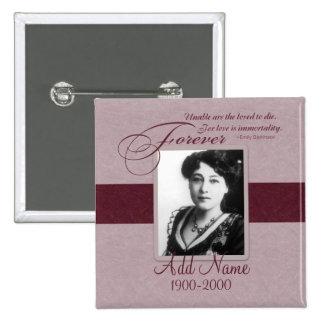 Forever Loved Custom Memorial 15 Cm Square Badge