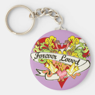 Forever Loved - Mom Gifts Basic Round Button Key Ring