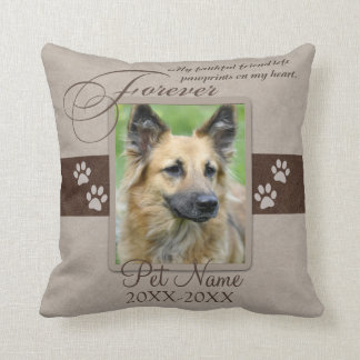 Forever Loved Pet Sympathy Custom Cushion