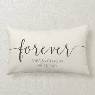 FOREVER,Personalized Wedding Gift Lumbar Cushion