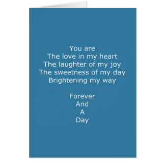 Forever Poem Card