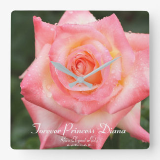 Forever Princess Diana: Rosa Elegant Lady Wallclocks