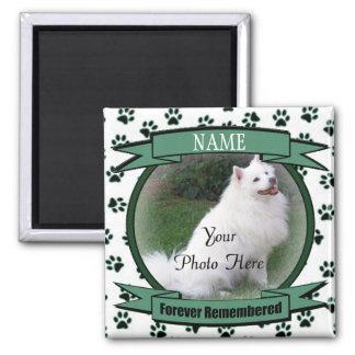 Forever Remembered Dog or Cat Keepsake Memorial Square Magnet