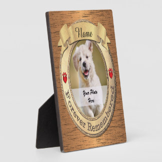 Forever Remembered Dog or Cat Memorial Plaque