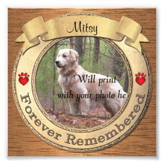 Forever Remembered Personalised Pet Memorial Photo Print
