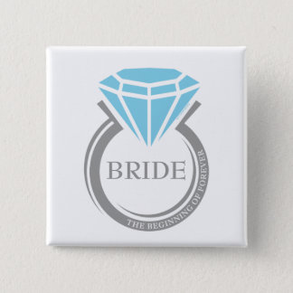Forever Ring Bridal Party Custom Button