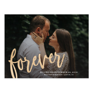 Forever Save the Date Postcard