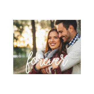 Forever Script Overlay Photo Canvas Print