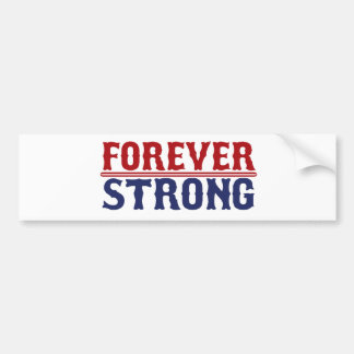 Forever Strong Boston Strong Bumper Sticker