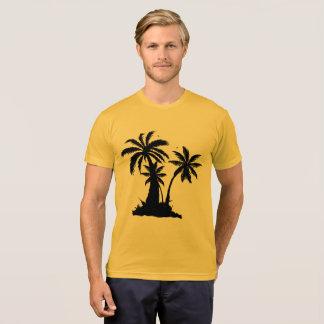 Forever Summer 365 Gold Black Palm Trees T-Shirt