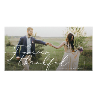 Forever Thankful Wedding Thank You Card