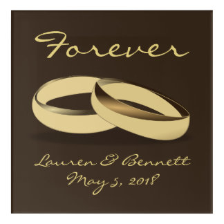 Forever Wedding Picture Acrylic Print
