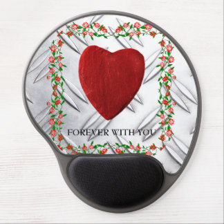 Forever with you rose frameworks with heart gel mouse pad