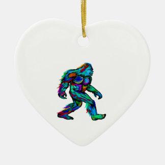 Forever Yeti Ceramic Heart Decoration