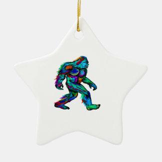 Forever Yeti Ceramic Star Decoration
