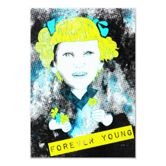 forever young 9 cm x 13 cm invitation card
