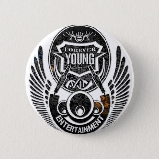 Forever Young Music 6 Cm Round Badge