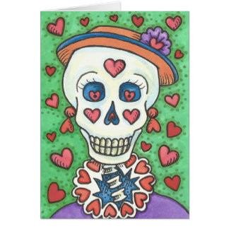 FOREVER YOURS LADY SKELETON NOTE CARD Customize