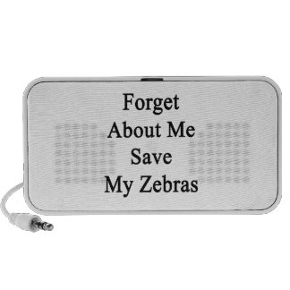 Forget About Me Save My Zebras Mp3 Speakers