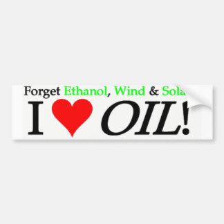 Forget Ethanol, Wind & Solar Bumper Sticker