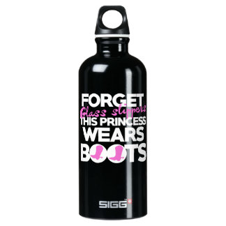 Forget glass slippers this princess wears boots water bottle