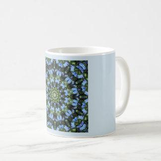 Forget Me Not 001 01, Forgetmenot, Nature Mandala Coffee Mug