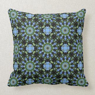 Forget Me Not 001 01, Forgetmenot, Nature Mandala Cushion