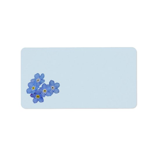 Forget-me-not Address Labels