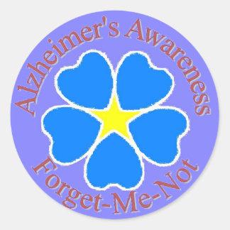 Forget Me Not Alzheimer's Sticker