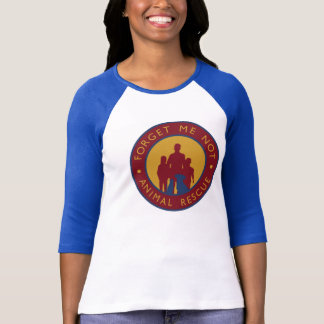 Forget Me Not Animal Rescue Logo 3/4 Sleeve T T-Shirt