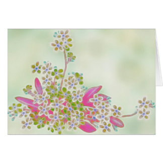 Forget Me Not BLANK Note Card