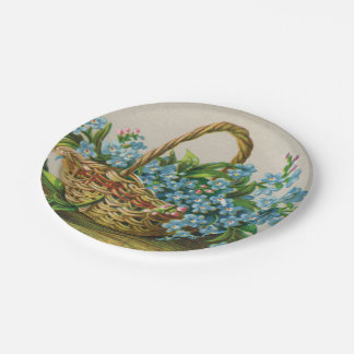 Forget-Me-Not Blossoms Picnic Paper Plate